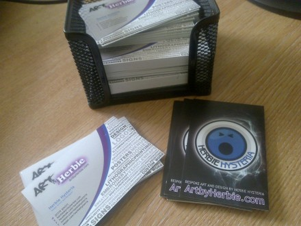 Herbie's new business cards