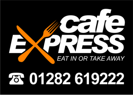 Clean, bold design ideal for vinyl transfer, printed t-shirts for Cafe Express.